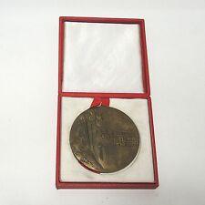 Aus Nachlass Bronze Medaille Berlin Lenino 1945 - 1975 Polen ca. 8 cm mit Box