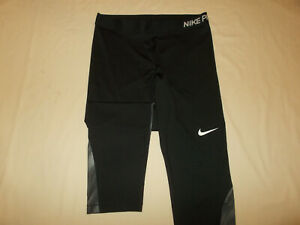 NIKE PRO BLACK CAPRI PANTS WOMENS XL EXCELLENT CONDITION