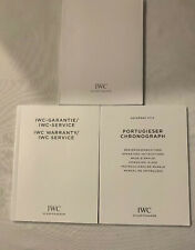Iwc Instructions For Portugieser Chronograph, With Warranty Book And Cloth.