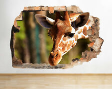 Wall Stickers Giraffe Animal Africa Nursery Smashed Decal 3D Art Vinyl Room G253