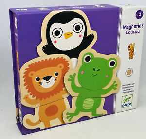 DJECO Magnetic's Coucou - Wooden Magnets - Childrens Educational Toy - Preowned