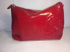 Lancome makeup bag, Red, Rose Imprinted on the front.