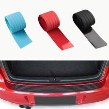 Rear Guard Bumper Protector Trim Cover Sill Trunk Scuff Plate Rubber Black