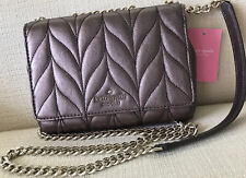 NEW Kate Spade Mini Emelyn Briar Lane Quilted Crossbody Bag Metallic Oak $299.00