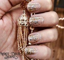 Color Street MONTE CARLO JACKPOT (Neutral Beige Gold Silver Gold Glitter)