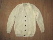 New Traq Knitwear Ltd. Wool Ireland Cable Knit Cardigan Sweater - 46
