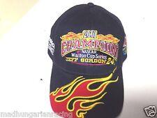 VINTAGE NASCAR 2001 JEFF GORDON DUPONT 4 TIME CHAMP FLAMES HAT WINSTON CUP NWT