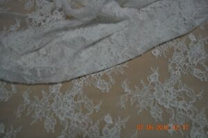 Jacquard Lace, 160 cm, ivory, sold by the meter