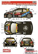 "1/24 2014 Peugeot 207 #206 ""EPIU"" San Remo Rally decal set by Studio 27 ~ DC1088"