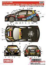 "1/24 2014 Peugeot 207 #206 ""EPIU"" San Remo Rally decal set by Studio 27 ~ DC1088"