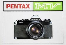 163490 PENTAX MV GENUINE OWNER INSTRUCTION MANUAL
