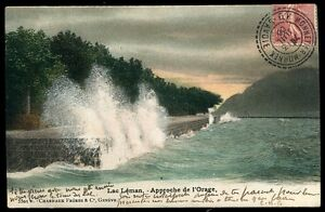CP SUISSE  LAC LEMAN approche de l'orage 1906   (60)