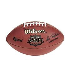 Super Bowl XXXIV (34) Rams vs. Titans Official Leather Game Football by Wilson