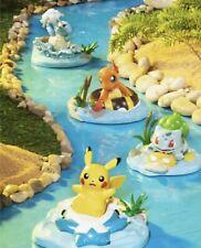 Pokemon Center Pikachu Charmander Bulbasaur Squirtle Relaxing River Figures Set