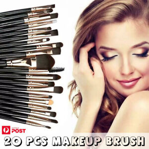 20 Pcs Makeup Brush Set Eyeshadow Eyebrow Powder Foundation Contour Lip Brushes