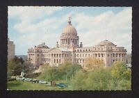 1950s State Capitol of Mississippi Old Cars Jackson MS Hinds Co Postcard