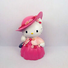 Hello Kitty Pink Lady Resin Painting Coin Bank Money Box Toy Kids Gift 7.4""