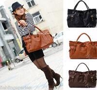 L/P Neu Damen Frauen Brown Schultertasche Messengertasche Handtasche M0396