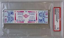 SEATTLE PILOTS vs DETROIT TIGERS May 29, 1970 Full Unused Game Ticket ~ PSA 9