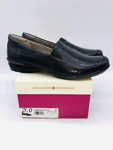 Naturalizer Women's Channing Slip On Flats Black Leather - Choose Size