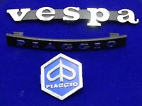 VESPA PIAGGIO HORN CAST, LEGSHIELD BADGE / EMBLEM KIT STAND NEW BRAND