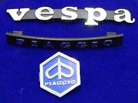 NEW BRAND VESPA PIAGGIO HORN CAST, LEGSHIELD BADGE / EMBLEM KIT STAND
