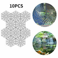 10x Outdoor Pond & Fish Guard Grid Protective Cover  Plastic Floating Net Rings