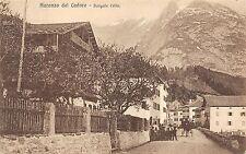 9356) AURONZO DI CADORE (BELLUNO) BORGATA CELLA, CARROZZA E PERSONE.