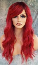 LONG WAVY  COSTUME WIG HALLOWEEN PARTIES FANTASY *ROOTED CRIMSON SANGRIA 1087