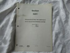 1979 Case tractor troubleshooting solid state selective steering service manual