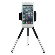Rotatable Tripod Stand Camera Mount Holder For Cell Phone iPhone 5 5G 5S 5C 4 4S