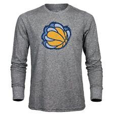 NBA Memphis Grizzlies Men's Premium Triblend Long Sleeve Tee, Heather Grey, XX-L