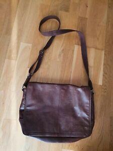 Conkca London Handcrafted Leather Medium messenger acrossbody Men Bag Satchel