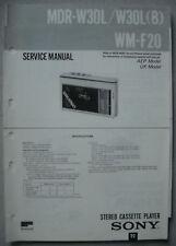 SONY WM-F20 und MDR-W30L Service Manual