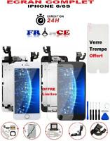 BLOC ECRAN LCD COMPLET+VITRE TACTILE IPHONE 6/6S NOIR/BLANC SUR CHASSIS+OUTILS