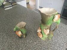 Eastgate Pottery Withernsea England - Large Fauna Vase / Jug.