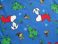 Peanuts Snoopy Stocking on Head Christmas Fabric - 11 Inches x 43 Inches