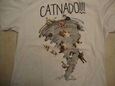Catnado Funny Cute Spoof Kittens Soft White T Shirt Size S