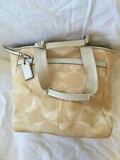 Coach Gold Logo Large Canvas Weekend Tote Purse Handbag Style A0732 F10806