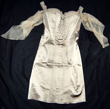 LA PERLA Kleid Satin Chiffon 38 EDEL Abendkleid 1659,- Flatter Chiffon Ärmel