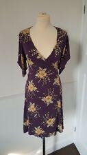French Connection Purple Plum Sequin Wrap Dress Size 12 excellent