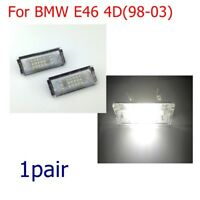 2x Spuer White LED Error Free Number License Plate Light For BMW E46 4D(98-03)