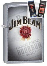 Zippo 29571 Jim Beam Bourbon Whiskey Lighter with *FLINT & WICK GIFT SET*