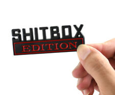 1x  SHITBOX EDITION Emblems Sticker Car Decal for Truck Badge Black Red
