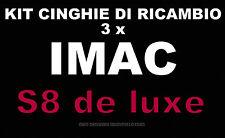 ★KIT CINGHIE DI RICAMBIO 3 x PROIETTORE 8 mm SUPER 8 mm IMAC S8 de luxe ★