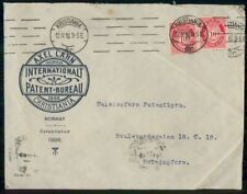 Mayfairstamps Norway Ad 1918 Cover Kristiania Intl Patent Bureau wwk31971