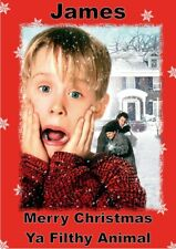 Personalised christmas card home alone any name/ relation