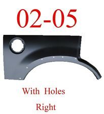 02 05 With Holes, Ford Explorer Right Upper Arch Repair Panel, Patch, 1996-150