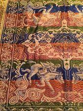 Vintage India Shajahan Taj Mahal Riding Tapestry Home Table Decor Made Italy