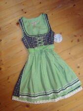 Marjo Dirndl Miranda mit Charivari blau weiß grün 55 cm Gr. 30 32 34 36 38 42 44